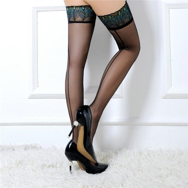 Sexy Sheer Lace Top Hold-Ups | Sexy Lingerie Canada