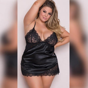 Sexy V-neck Sling Babydoll Nightgown | Sexy Lingerie Canada