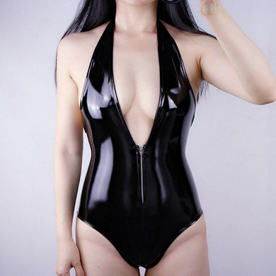 Sexy Wet Look Leather Bodysuit | Sexy Lingerie Canada