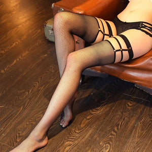 Sexy Women's Mesh Hollow out Thigh High Stockings | Sexy Lingerie Canada