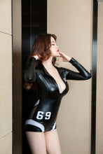 Load image into Gallery viewer, Sexy Zipper PU Bodysuit | Sexy Lingerie Canada