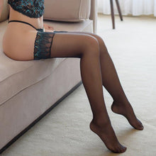 Load image into Gallery viewer, Silicone Embroidery Peacock Stockings | Sexy Lingerie Canada