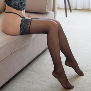 Silicone Embroidery Peacock Stockings | Sexy Lingerie Canada