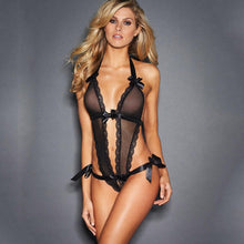 Load image into Gallery viewer, V-Neck Black Lace Sexy Lingerie | Sexy Lingerie Canada