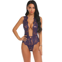Load image into Gallery viewer, Women Body Stocking Sexy Floral See Through Lingerie | Sexy Lingerie Canada