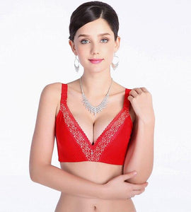 Women Deep V-neck Push Up Bra Gather Adjustable Bra | Sexy Lingerie Canada