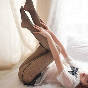 Women Fishnet Back Seam Plus Size Stockings | Sexy Lingerie Canada