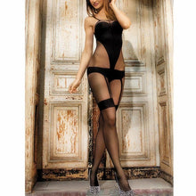 Load image into Gallery viewer, Women Full Body Shiny Pantyhose Open Crotch Stocking | Sexy Lingerie Canada