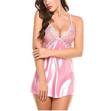 Load image into Gallery viewer, Women Green Baby Hot Lace Nightdress | Sexy Lingerie Canada