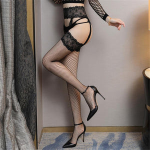 Women Open Crotch Mesh Lace Fishnet Stockings | Sexy Lingerie Canada