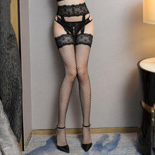 Load image into Gallery viewer, Women Open Crotch Mesh Lace Fishnet Stockings | Sexy Lingerie Canada