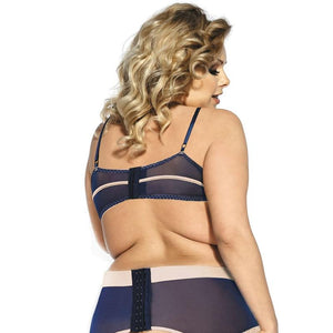 Women Plus Size Blue Lace Open Transparent Lingerie Set | Sexy Lingerie Canada