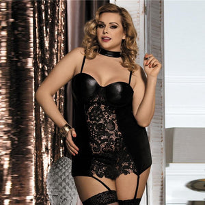 Women Plus Size Faux Leather Lingerie | Sexy Lingerie Canada