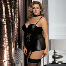 Load image into Gallery viewer, Women Plus Size Faux Leather Lingerie | Sexy Lingerie Canada