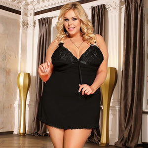 Women Plus Size Hollow Backless Sexy Night Dress | Sexy Lingerie Canada