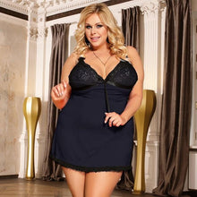 Load image into Gallery viewer, Women Plus Size Hollow Backless Sexy Night Dress | Sexy Lingerie Canada