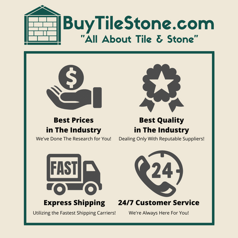 BuyTileStone.com All About Tile And Stone Support Quality About Us Page Badge