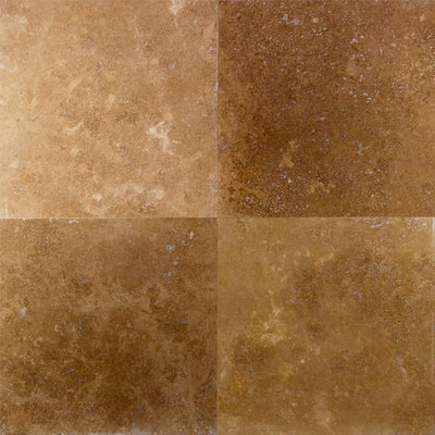 Noce Travertine 18x18 Filled Honed Straight Edge Tile