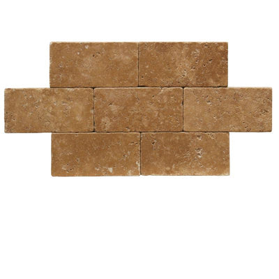 Noce Travertine 3x6 Tumbled Tile