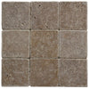 Noce Travertine 4x4 Tumbled Tile