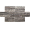 Silver Titan Travertine 12x24 Vein Cut Honed Tile