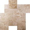 Cappucino Marble Brushed and Chiseled Versailles Pattern Tile