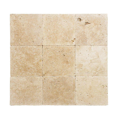 Ivory Travertine 12x12 3cm Tumbled Paver