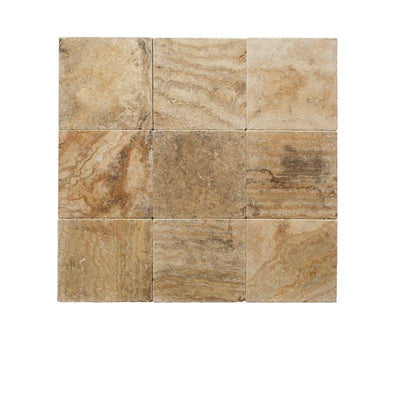 Scabos Travertine 12x12 3cm Tumbled Paver
