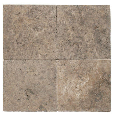 Silver Travertine 3cm 16x16 Tumbled Paver