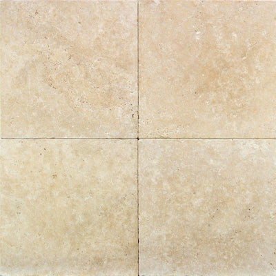 Ivory Travertine 16x16 Tumbled Paver