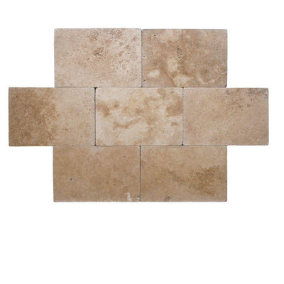 Noce Travertine 16x24 3cm Tumbled Paver