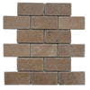 Noce Travertine 2x4 Tumbled Mosaic Tile