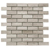 Haisa Light (White Oak) Marble 1x3 Honed Mosaic Tile