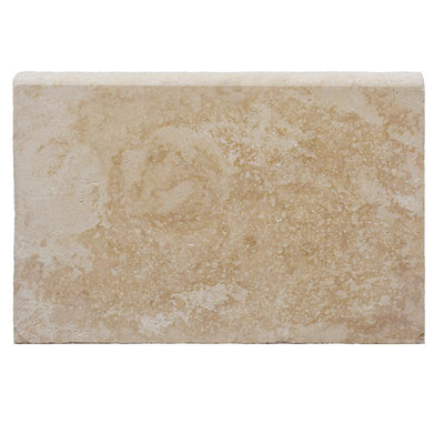 Ivory Travertine 16x24 5cm Tumbled Pool Coping