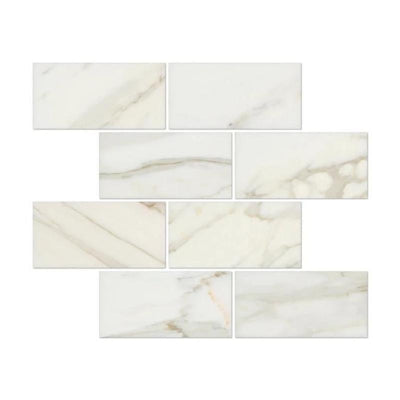 Calacatta Gold Marble 3x6 Polished Tile