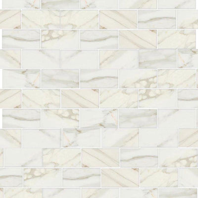Calacatta Gold Marble 3x6 Honed Tile