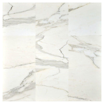 Calacatta Gold Marble 18x18 Polished Tile