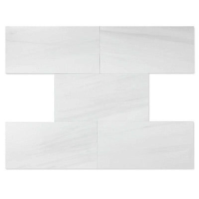 Dolomite Pearl Marble 6x12 Honed Tile