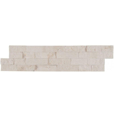 White Pearl (Freska) Limestone 6x24 Stacked Stone Ledger Panel