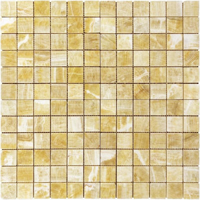 Honey Onyx 2x2 Polished Mosaic Tile