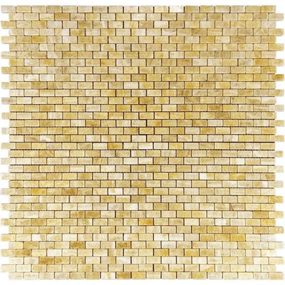 Honey Onyx 5/8x1 1/4 Polished Mosaic Tile