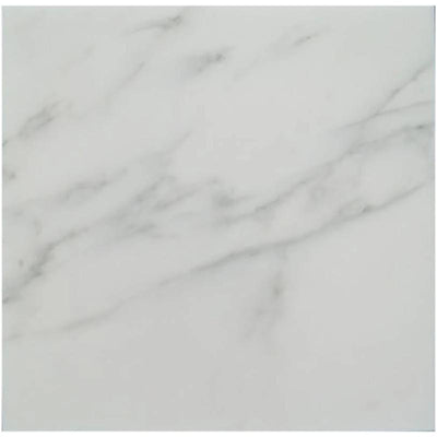 Asian Statuary (Oriental White) Marble 18x18 Honed Tile