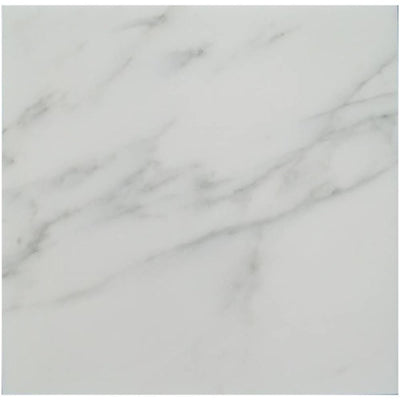 Asian Statuary (Oriental White) Marble 18x18 Polished Tile