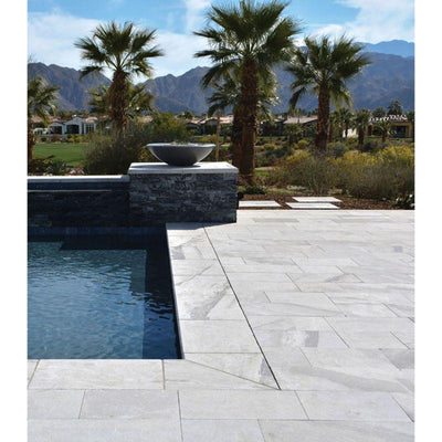 Atlantic Gray Marble 16x24 5cm Tumbled Pool Coping