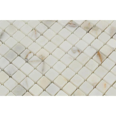 Calacatta Gold Marble 5/8x5/8 Honed Mosaic Tile