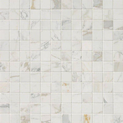 Calacatta Gold Marble 2x2 Polished Mosaic Tile
