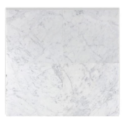 White Carrara Marble 18x18 Polished Tile