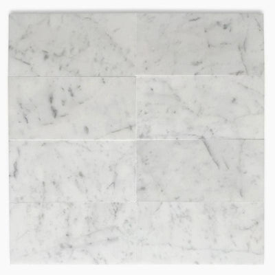 White Carrara Marble 4x8 Polished Tile