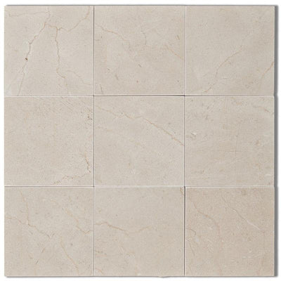 Crema Marfil Select Marble 4x4 Polished Tile