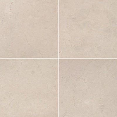 Crema Marfil Select Marble 12x12 Polished Tile